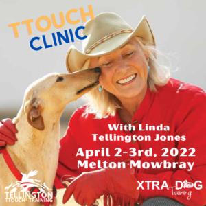 Linda Tellington Jones Clinic, April 2022 Assistant Dog Handler